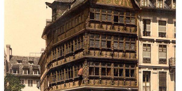 La maison Kammerzell à Strasbourg, au début du XXe siècle.