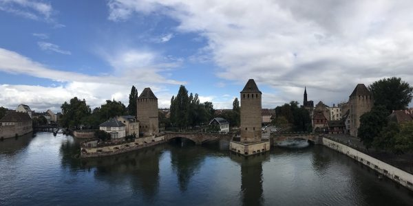 Les Ponts Couverts depuis le barrage Vauban, à Strasbourg
