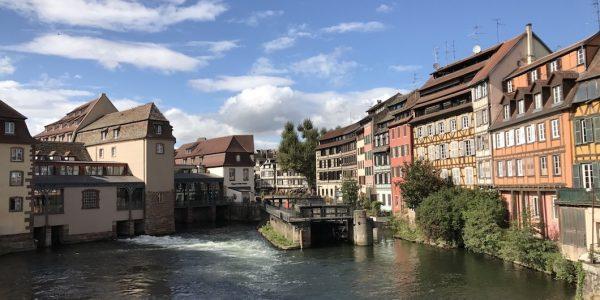Depuis le pont St Nicolas  à Strasbourg